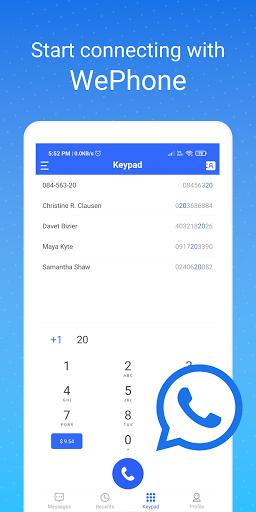 WePhone - Free Phone Calls & Cheap Calls  screenshots 1