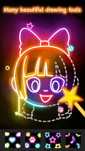 Learn to Draw Glow Cartoon  screenshots 5