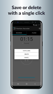 Titanium Voice Recorder with number ID Screenshot