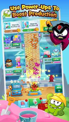 Om Nom Idle Candy Factory  screenshots 2
