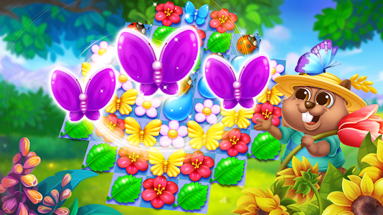 Butterfly Flower Free Match 1.6 screenshots 1
