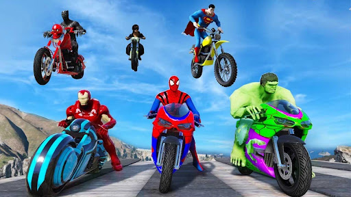 Superhero Tricky Bike Stunt GT Racing  screenshots 15