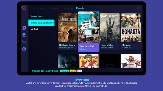 Torrentium TV - Stream and manage torrents Screenshot