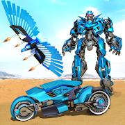 Flying Police Eagle Bike Robot Hero: Robot Games