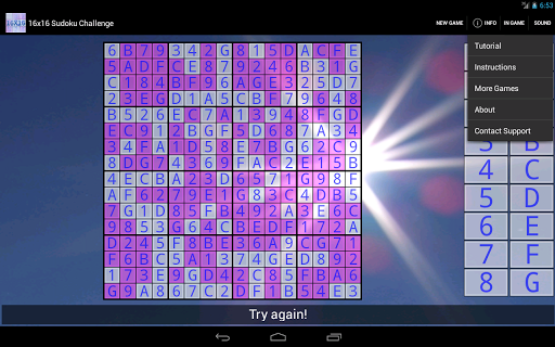 16x16 Sudoku Challenge HD 3.8.5 screenshots 10