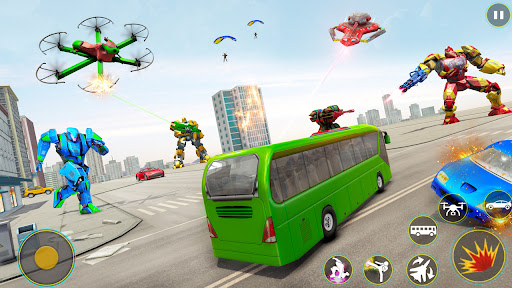 Drone Bus Robot Car Game - Transforming Robot Game 1.2.1 screenshots 1