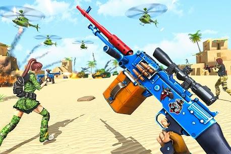 Real Commando Shooting Strike Mod Apk (God Mode/Dumb Enemy) 1