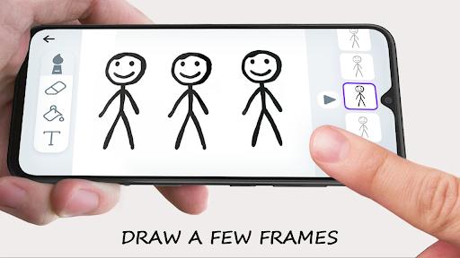 Stickman: draw animation, creator & maker, drawing apktram screenshots 2
