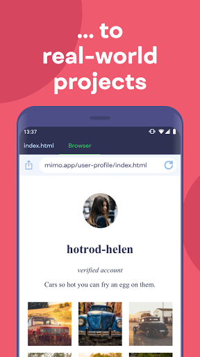 Mimo: Learn coding in HTML, JavaScript, Python android2mod screenshots 3