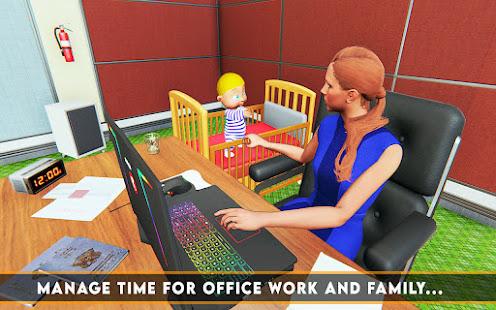 ワーキングマザーオフィスジョブシミュレーターゲーム:ベビーケア