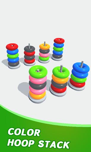 Color Sort Puzzle: Color Hoop Stack Puzzle apkmartins screenshots 1