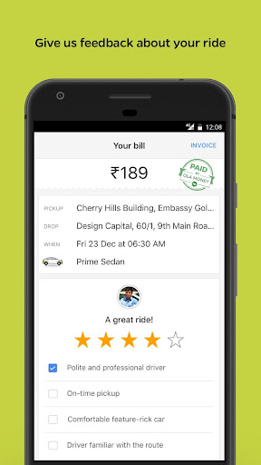 Ola Lite: Lighter Faster Ola App. Book Taxi & Cabs  Screenshots 4
