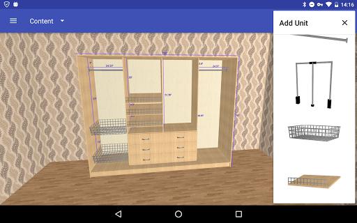Closet Planner 3D 2.7.1 Screenshots 2