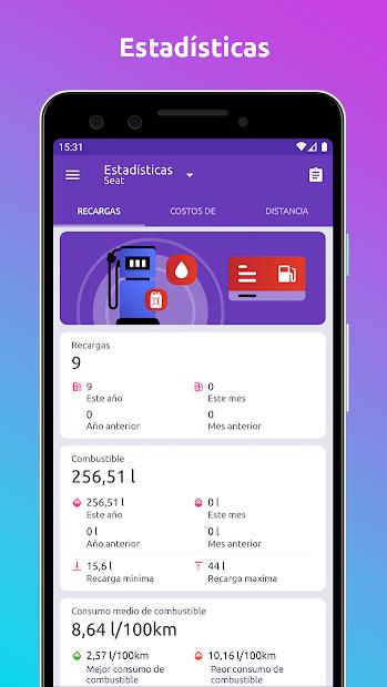 Screenshot 6 de Fuelio: Combustible y gastos para android