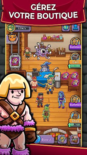 Télécharger Dungeon Shop Tycoon: Craft, Idle, Profit! ⚔️💰🧙 APK MOD (Astuce) screenshots 1