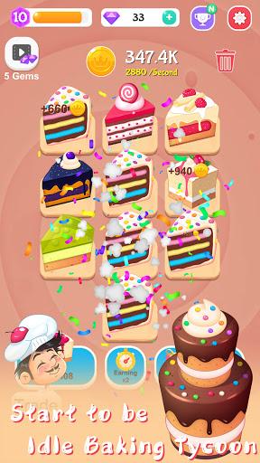 Merge Cake Mania - idle baking tycoon  screenshots 10