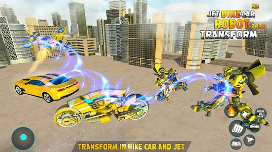 Flying Jet Robot Car Transform Games Screenshot
