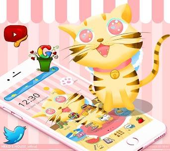 Cute Cartoon Leopard Bengal Cat House Theme 1.1.6 Latest MOD Updated 1