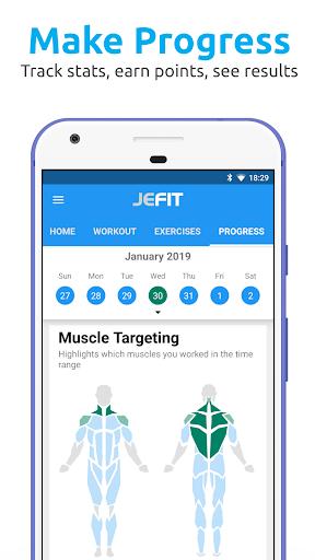 JEFIT Workout Tracker, Weight Lifting, Gym Log App screenshots 4