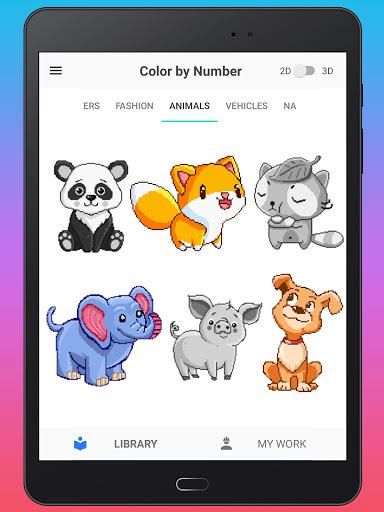 Color By Number - Unicorns Pixel Art apkdebit screenshots 14