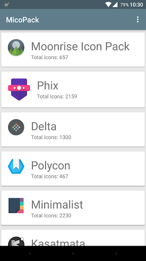 micopacks - icon pack manager screenshot 1