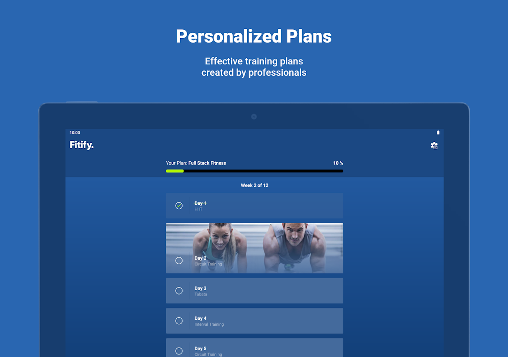 Fitify: Workout Routines & Training Plans  poster 10