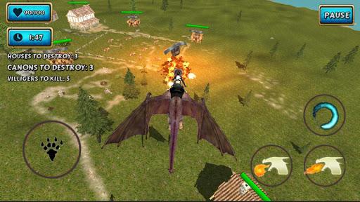 Fire Flying Dragon Simulator Warrior Sky Rider 3D  screenshots 3