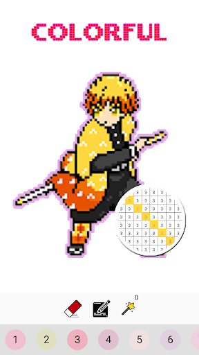 Pixel Kimetsu No Yaiba Color By Number - KNY Paint 126.0 screenshots 4