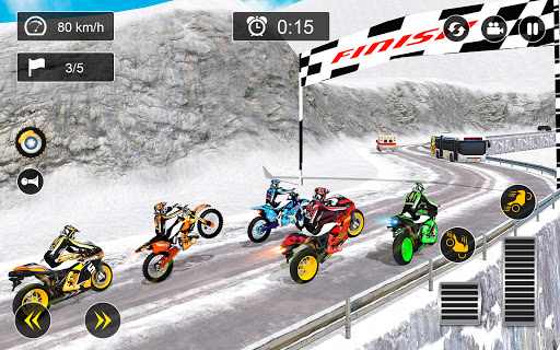 Snow Mountain Bike Racing 2021 - Motocross Race android2mod screenshots 11
