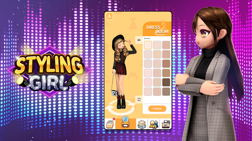 Styling Girl - 3D Dress Up Game apkpoly screenshots 6
