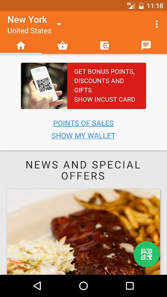 inCust universal loyalty card