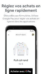 Google Pay Capture d'écran