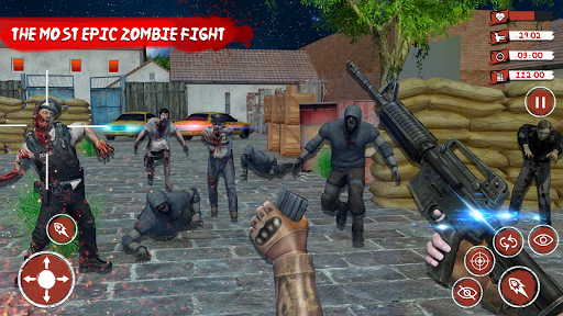 Zombie Target Dead Survival-Reddy Zombies Shooting apkmartins screenshots 1