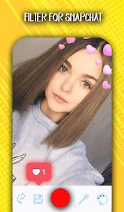 Free Filter for snapchat – Amazing Snap camera Filters Apk Download 2021 4