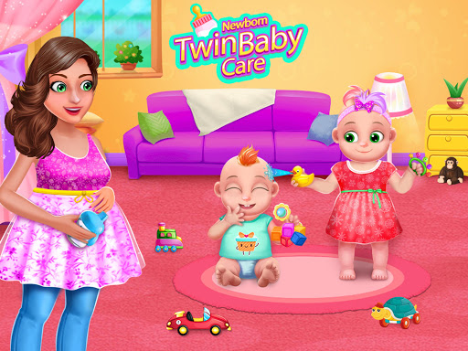Pregnant Mommy And Twin Baby Care android2mod screenshots 1