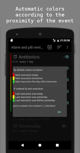 Alarm and pill reminder modavailable screenshots 2