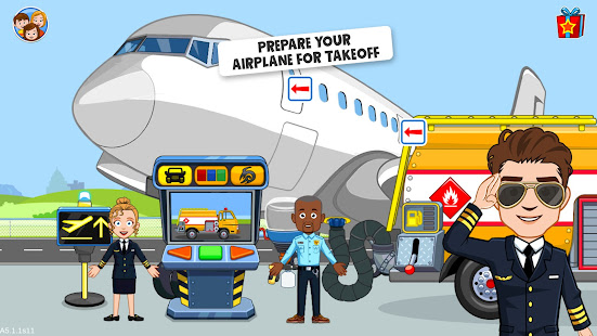 My Town : Airport. Free Airplane Games for kids Unlimited Money