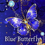 Beautiful Wallpaper Blue Butterfly Theme