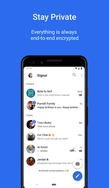 WhatsApp ضد Telegram ضد Signal