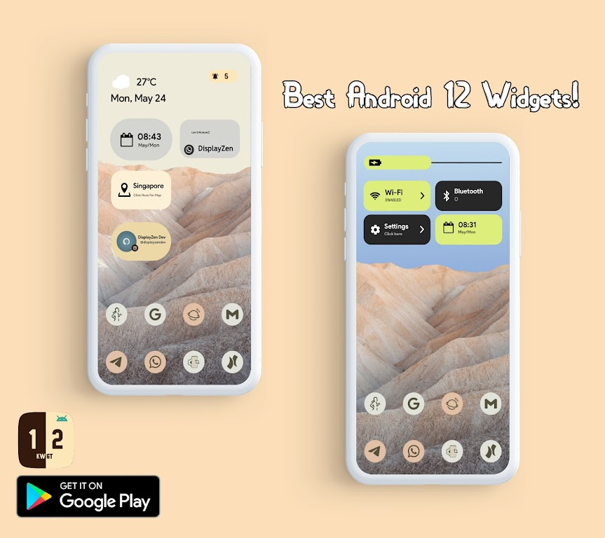 Android 12 Widgets KWGT  poster 16