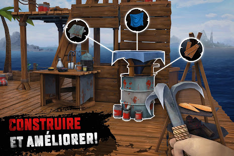 Raft Survival: Survie sur un radeau - Nomad screenshots apk mod 5