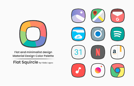 Flat Squircle - Icon Pack 3.4 (Patched)