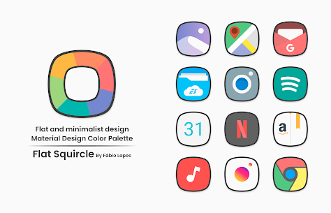 Flat Squircle Apk- Icon Pack (Paid) Download 1