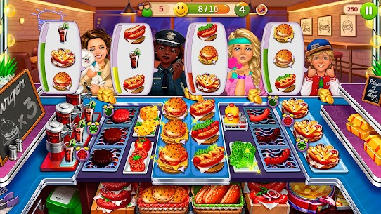 Hell's Cooking: Crazy Burger, Kitchen Fever Tycoon Mod Apk 1.80 (A Lot of Gold Coins) 5