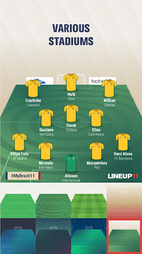 Lineup11- Football Line-up 1.1.6 Screenshots 4