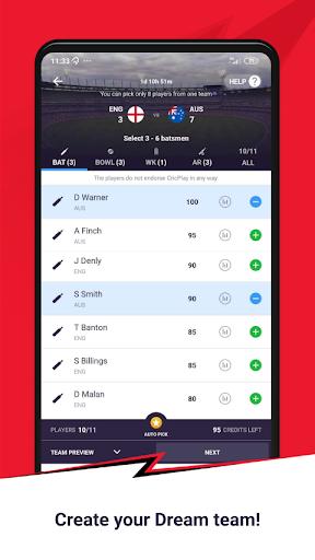 CricPlay - Free Fantasy Cricket & Virtual Betting 1.0.9.0 screenshots 2