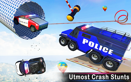 Police Car Racing Stunts 3D : Mega Ramp Car Games 3.8 screenshots 12