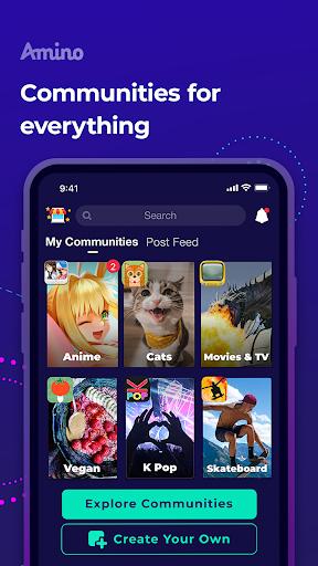 Amino: Communities and Chats apktram screenshots 1