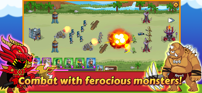 Dropwars MOD APK: Defense Kingdom Wars (Unlimited Gold) 5