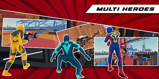 Superhero Mega Ramp Car Stunt - Monster Truck Race  screenshots 11